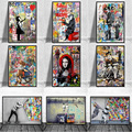 Banksy Graffiti Art Canvas Painting Abstract Animals and Figures Posters and Prints Street Wall Art Picture Home Decor Cuadros