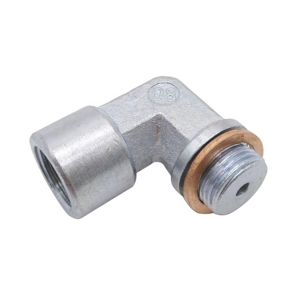 New O2 Oxygen Sensor Angled Extender Spacer 90 degree 02 bung Extension M18X1.5