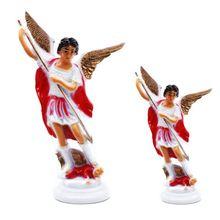 Красный Ангел пластиковая Священная Статуя Украшения христианство церковь украшение дома