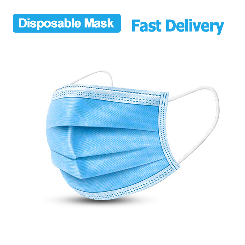 3 Ply Mask Dust Protection Masks Disposable Face Masks Elastic Ear Loop Disposable Dust Safety Filter Mask