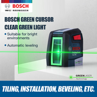 Bosch GLL30G Laser Level High Precision Green Light Two Line Horizontal And Vertical Laser Level|Laser Levels|   -