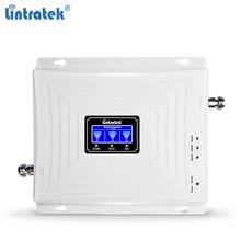 Lintratek amplificador de sinal 2g 3g 4g, gsm, repetidor 900 1800 mhz triband, 2100mhz g 3g 4g lte umts band 1 band 3