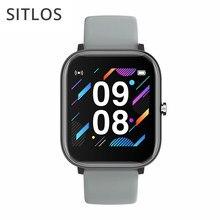 Sitlos p8 se 2020 1.4 Polegada relógio inteligente masculino toque completo multi-modo esporte com smartwatch feminino monitor de freqüência cardíaca para ios android