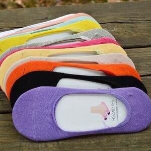 Women's Cotton Invisible No show Socks non-slip Summer Solid Color Short Socks Fashion Ankle Thin Boat Socks
