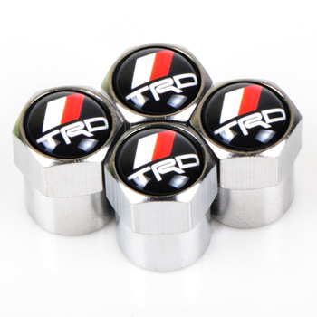 4PCS Car Wheel Tire Valve Stem Caps waterproof Cover For Toyota TRD Corolla rav4 Camry avensis CHR car accessories car styling image