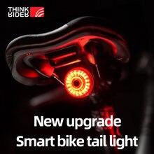 Thinkrider велосипед хвост светильник smart auto тормозной сенсор
