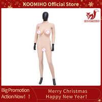 KOOMIHO C/E TASSE Realistische 9-punkt Body mit Arm Crossdresser Silikon Brust Formen Gefälschte Vagina Transen Drag königin Kostüm 2G