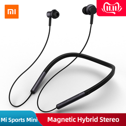 Original Xiaomi Mi Neckband Sports Bluetooth Earphone Wireless Magnetic Hybrid Stereo Bass Apt-x Headset With Mic For Pocophone