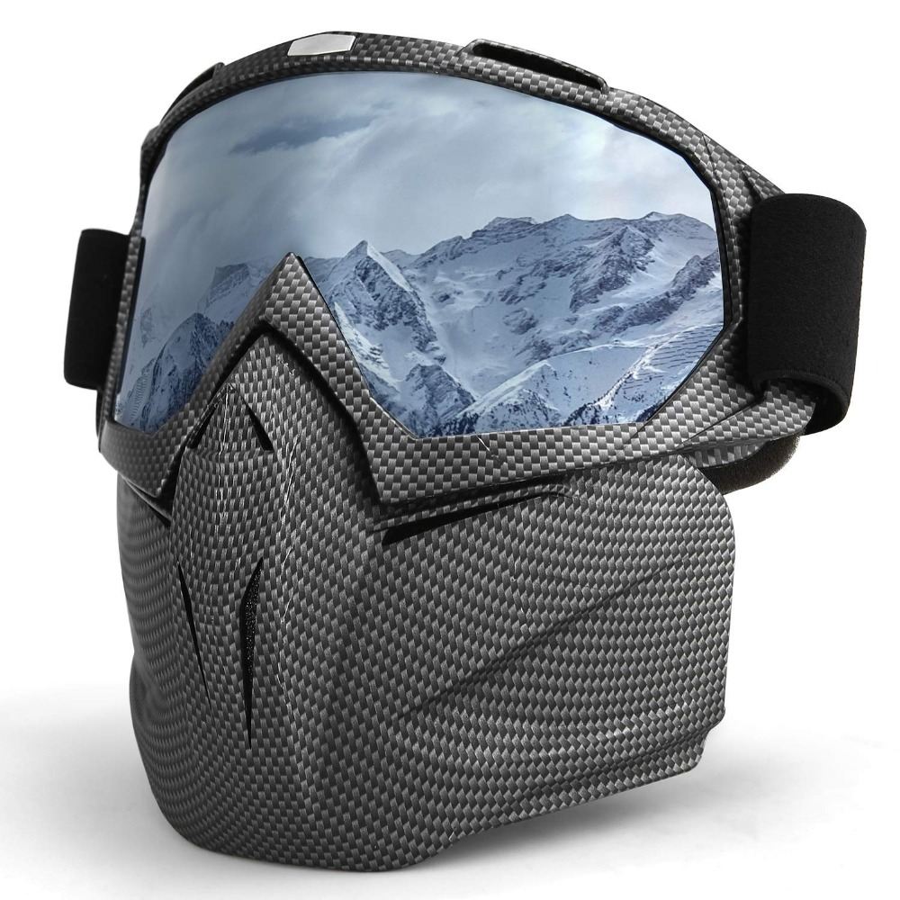 Skiing Eyewear Winter Windproof Skiing Glasses Motocross Sunglasses with Face Mask Ski Snowboard Snowmobile Goggles 16 Colors|Skiing Eyewear| |  - title=