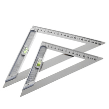 200mm Triangle Ruler 90° Alloy Measuring Tool With Bead Horizontal Woodworking R9JC