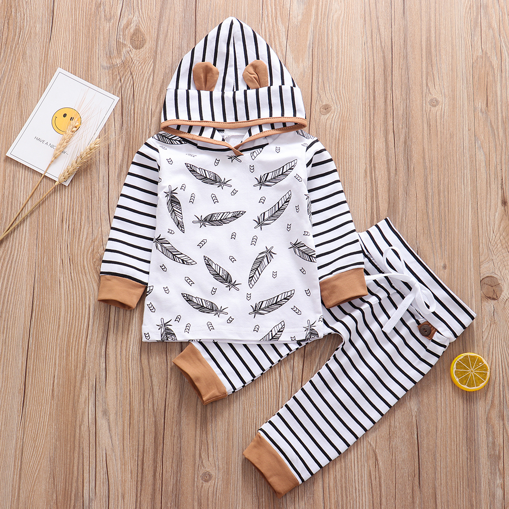 2019 Newborn Baby Girl Clothes Boy Cotton Bebes Hoodie Carters Infant Clothing Kleding Outfit Set New Born Boys Girls Sets 0-24M