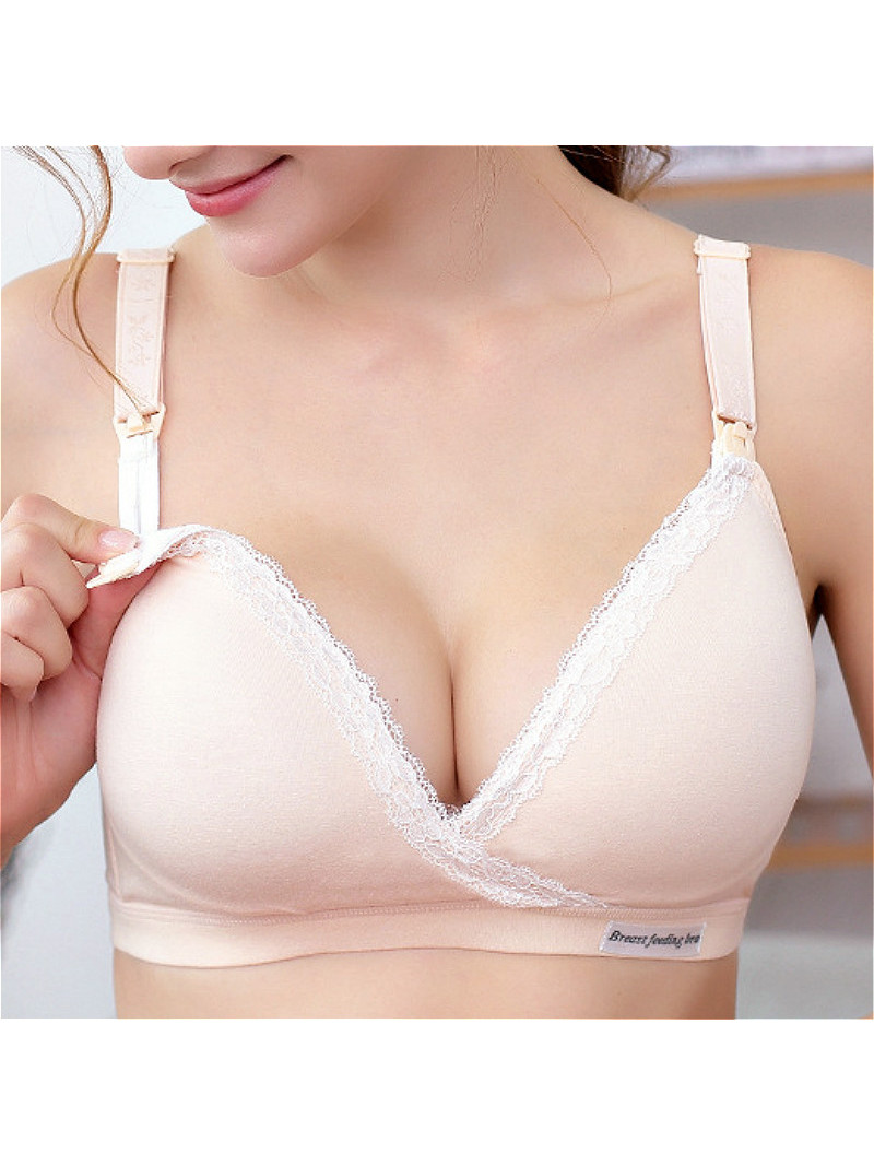 Breastfeeding-Bra Underwear Wirefree Nursing-Clothing Sleep Cotton Pregnancy-Breast