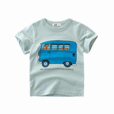 2019 ใหม่ผ้าฝ้ายเด็กวัยหัดเดินเสื้อผ้าเด็กการ์ตูนพิมพ์ Tops Tees ชายรถ T เสื้อสำหรับฤดูร้อนเด็กหญิงตัวอักษรเสื้อยืดเสื้อผ้า