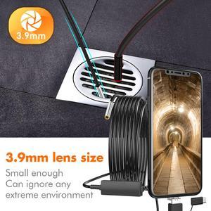 Image 2 - Usbタイプc内視鏡で 3 1 3.9 ミリメートルパイプボアスコープミニ蛇検査カメラip67 防水スコープ 6 ledアンドロイドpcスマートフォン
