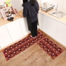 גיאומטרי הדפסת PVC קל לשפשף מסדרון רצפת מחצלת החלקה שמן הוכחה מטבח מחצלת מודרני מטבח שטיח בית שפשפת כניסת