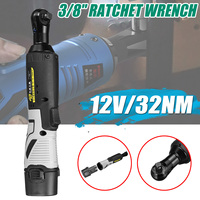 42V/18V/12V Electric Wrench 3/8 Inch Cordless Ratchet Right Angle Wrench 1 battery Kit Rechargeable Scaffolding 32/50/80NM Max|Electric Wrenches| |  -