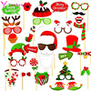 32pcs Christmas Photo Booth Props Christmas Decorations for  Home Photobooth Accessories 2021 Navidad New Year Eve Party Favors