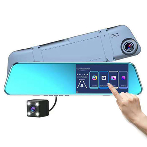 5.18 Inch Touch Sscreen 1080P Car DVR Dash Camera Auto Rearview Mirror Digital Dual Lens Driving Video Recorder Parking Monitor