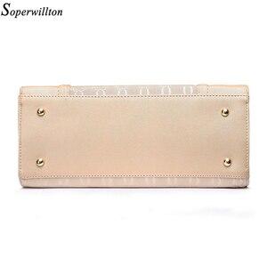 Image 4 - Soperwillton Fashion Luxury Handbags Women Bag Set Designer Purses Handbags Set 4 Pieces Bags Female Bolsa Feminina Hard #1122