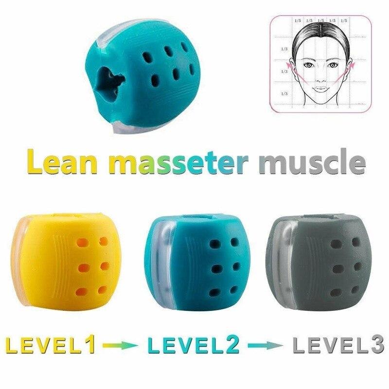 Balle de fitness du visage et du cou,en gel de silice de qualité alimentaire, pour exercices musculaires, tonification de la mâchoire,