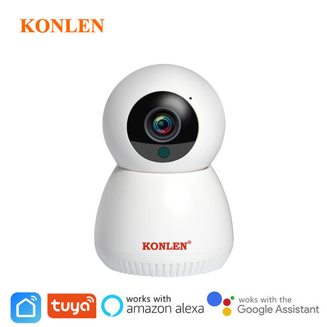 Tuya Camera WIFI IP Wireless Smart Life Compatible Google Home Assistant Alexa 1080P PTZ For House Security Surveillance Indoor