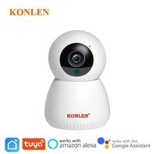 Tuya câmera wi fi ip sem fio inteligente vida compatível google assistente casa alexa 1080p ptz para casa vigilância de segurança interior