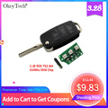 Okeytech 3 Button Remote Key Flip Folding 434Mhz ID48 Transponder Chip For VW Golf 4 5 Passat Polo 2000 2006 1 J0 959 753 AH|chip id48|chip transponder|chip transponder id48 -