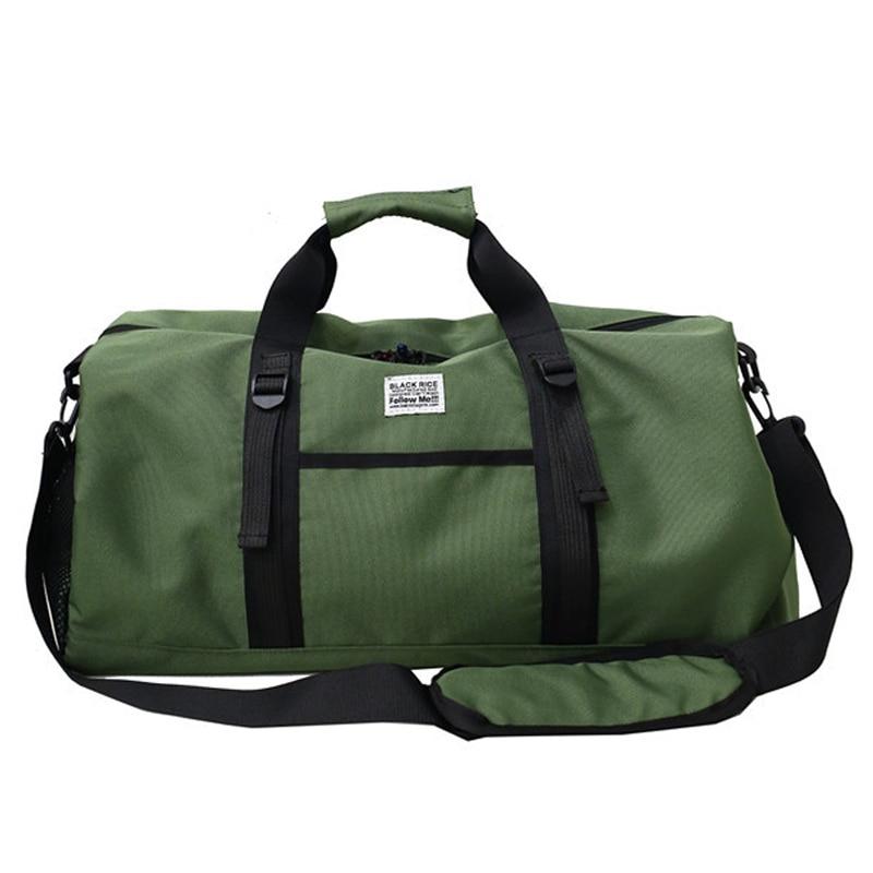 Outdoor Gym Bags Waterproof Oxford Sports Bag Men Women Training Fitness Travel Handbag Yoga Mat Bag Sac Sport Training Handbag
