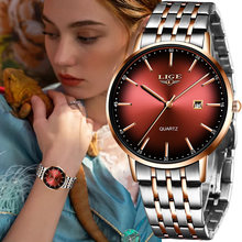 Часы наручные lige женские водонепроницаемые роскошные брендовые