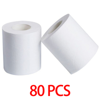 80 Rolls Hotel Commercial Toilet Core Sanitary Paper