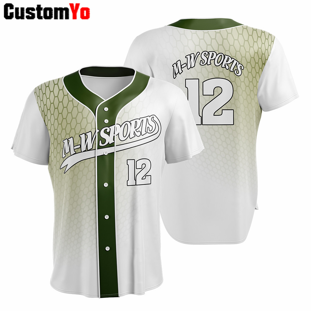 Us 30 0 Breathable Baseball Jersey Custom Jerseys Sublimation New Men Shirts In From Sports Entertainment On Aliexpress