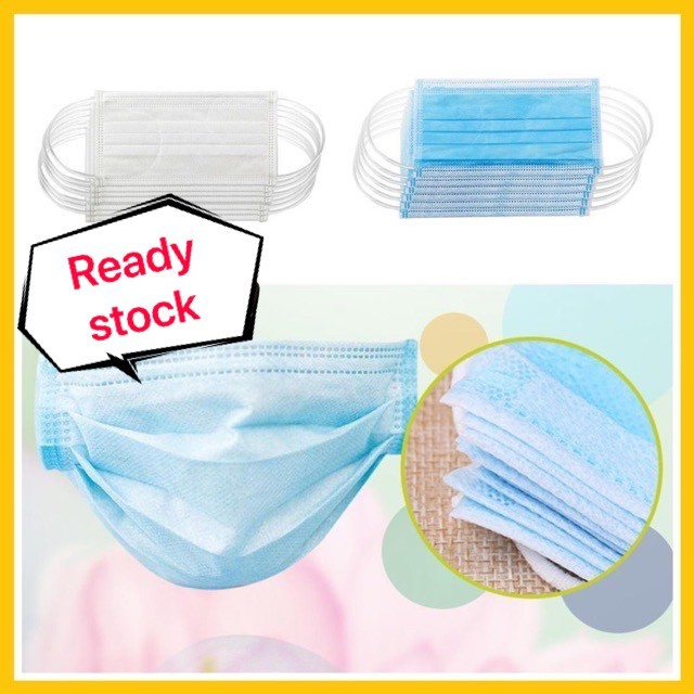 3 Ply Disposable Face Mask Non-woven Disposable Elastic Mouth Soft Breathable Flu Hygiene Face Mask as KN95 KF94 1