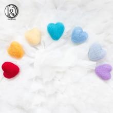 D&J 7pcs Pack Newborn Handmade Wool Felt Heart Shape Photography Studio Props Infant fotografia Accessories Baby Girl Boy Photo