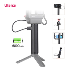 Ulanzi – bâton de poignée électrique, batterie 6800mAh, pour caméra daction Gopro Palm Osmo Vmate, BG2