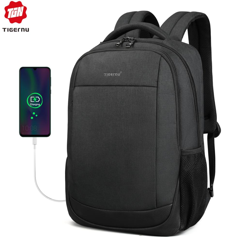 Tigernu Brand USB Charging Male Backpack Anti Theft  15.6