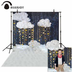 Image 1 - Allenjoy bébé douche photographie fond nuage étoile paillettes décoration toile de fond enfants fête nouveau né photo studio photocall