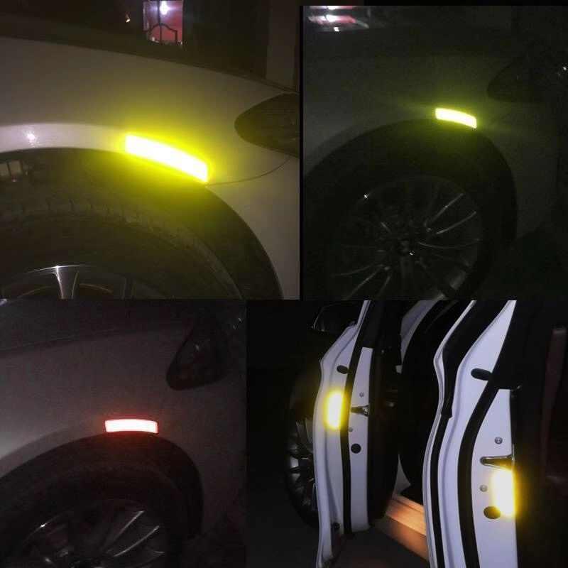 4 ชิ้น/เซ็ตรถสติกเกอร์รถ DIY เปิดสะท้อนแสงเทป Mark สะท้อนแสงเปิดข้อสังเกตจักรยานอุปกรณ์เสริมภายนอก