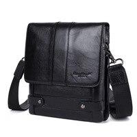 XiaoDuoLi Brand Genuine Leather Business Men Crossbody Shoulder Bag Men's Messenger Bags Flap Double Layer Travel OL Ipad Pack