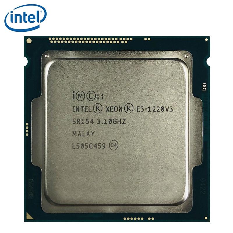 Процессор Intel Xeon V3, 3,1 ГГц, 8 Мб, 4 ядра, SR154, LGA 1150, процессор, E3 1220, V3, 100% рабочий, протестирован