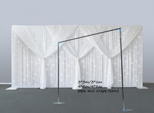 Wedding Drapery Pipe Stand/Wedding Decor Piping frame/Stainess Steel Wedding Backdrop Stand Wedding Square metal frame