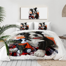 BeddingOutlet Shoes Puppy Bedding Set Bulldog Kids Duvet Cover Cartoon Dog Home Textiles Animal Colorful Bedclothes Posciel cheap None Duvet Cover Sets Microfiber Fabric 2 2m (7 feet) quality 200TC Printed Twill Woven 3 pcs 1 5kg National Standards 133X72