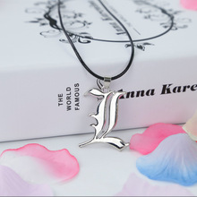 Hot Punk Anime Death Note Metal Necklace Cross Book Pendant Leather Chain Cosplay Women Men Accessories Choker Jewelry Gift 50cm bofee long vintage cross chain punk necklace pendant stainless steel choker charm metal male fashion jewelry gift for women men