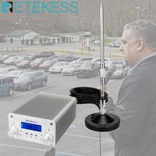 Retekess TR502 Drive kilise 15W FM verici kablosuz yayın Stereo istasyonu uzun menzilli verici sürücü sinemalarda