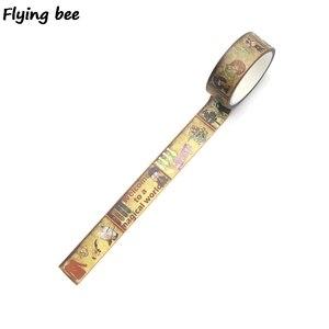 Image 4 - 20 sztuk/partia Flyingbee 15mmX5m akademia magii Washi taśma klejąca DIY dekoracyjna taśma klejąca artykuły papiernicze taśmy maskujące materiały X0288