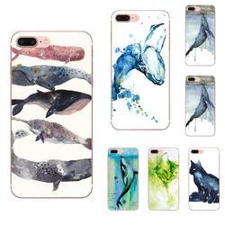 На Алиэкспресс купить чехол для смартфона watercolor painting animal cat whales for motorola moto g g2 g3 g4 g5 g6 g7 plus for xiaomi redmi note 8 8a 8t 10 k30 5g tpu