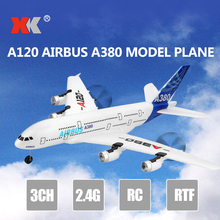 Wltoys Xk A120 Airbus A380 Model Plane 3ch Epp 2.4g Remote Control Airplane Fixed-wing Rtf Toy 20cm a380 united arab emirates aircraft model emirates a380 metal airplane airbus aviation model travel art collection adult toy