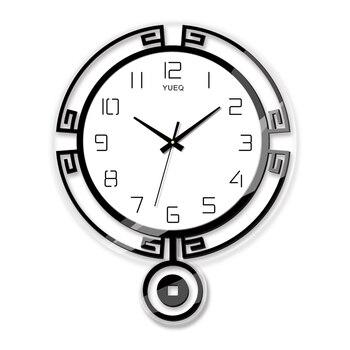 Silent 3d Wall Clock Creative Large Pendulum Clock Living Room Quartz Clock Art Decorative Horloge Mural Bedroom Decor SC058