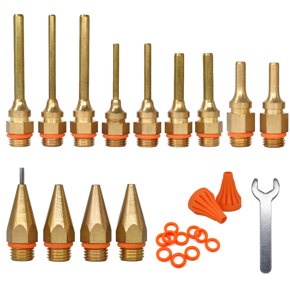 Glue Gun Nozzle Accessories Copper Material ,Suitable For Hot Melt Glue Gun With 11mm Glue Stick ,Built-in Leakproof Steel Ball.