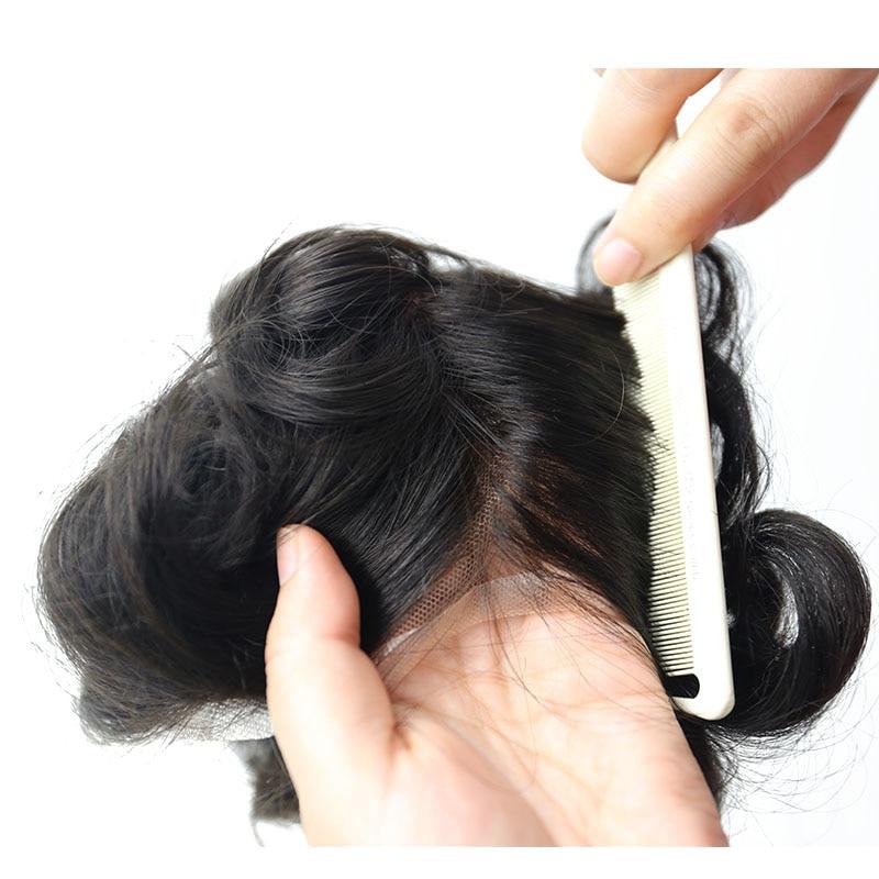 natural olhando 100% europeu cabelo humano rendas