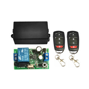 Image 3 - Interruptor inalámbrico de 433 MHz, CA de 110V, 220V, 1CH, TRANSMISOR DE RF, Control remoto, receptor de relé RF para abridor de puerta de garaje ligero